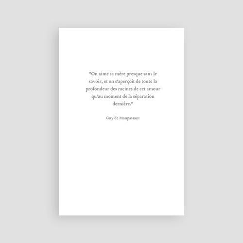 Remerciements Décès Universel - Couronne blanche 46730 preview