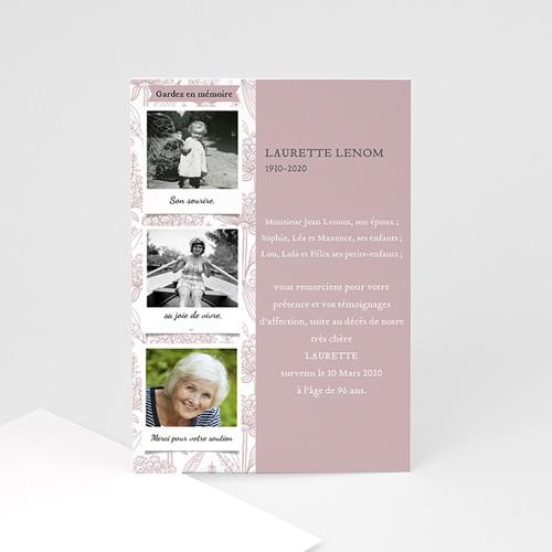 Remerciements Décès Universel - Hommage fleuri 46747