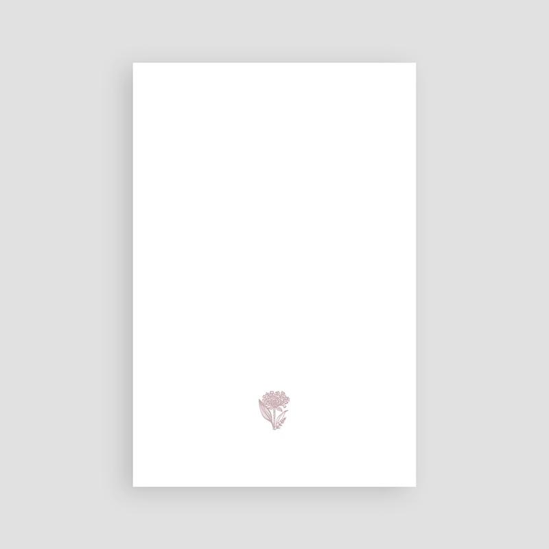 Carte Remerciement Décès Universel Hommage fleuri pas cher