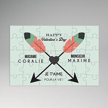 Puzzle personnalisé - Casse-tête d'amour - 0