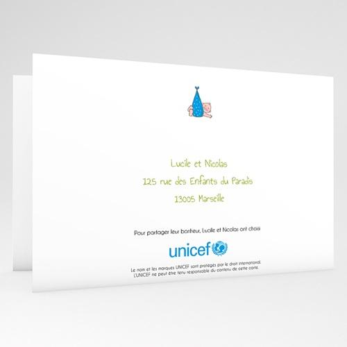 Faire-Part Naissance Garçon UNICEF Cigogne Express gratuit