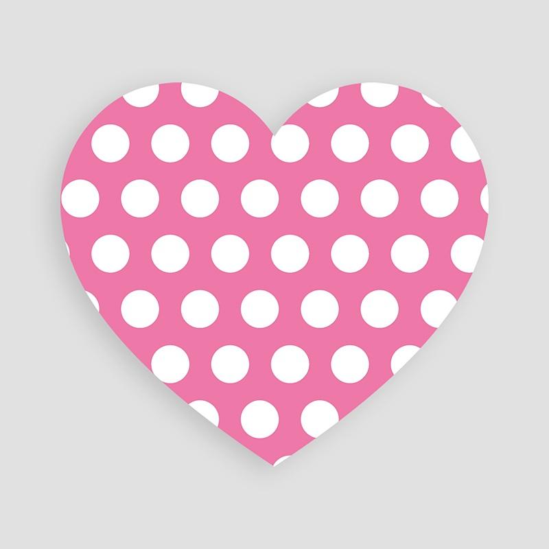 Carte Remerciement Naissance Fille Petit Coeur Rose pas cher