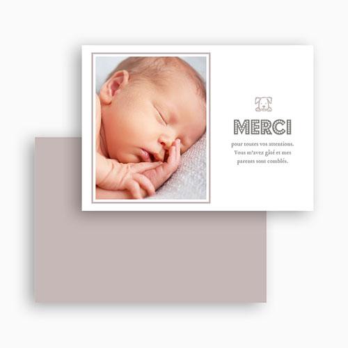 Carte remerciement naissance garçon Martin et le chiot gratuit