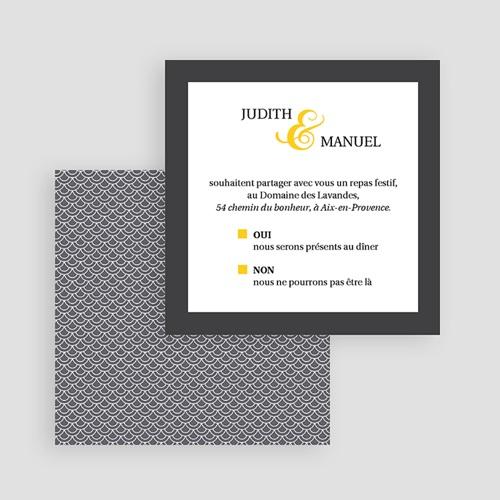 Carte Invitation Mariage - Mariage Estival - gris et jaune 46880 thumb