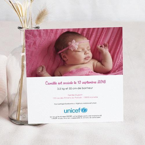 Faire-Part Naissance Fille UNICEF - L'été de bébé 46888 preview