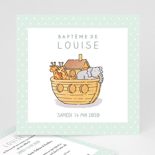 Faire-Part Baptême Fille Arche de Noé