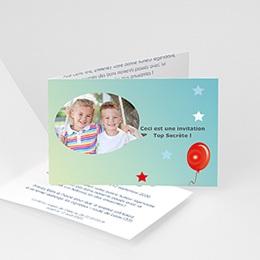 Carte invitation anniversaire adulte Lâcher de ballons