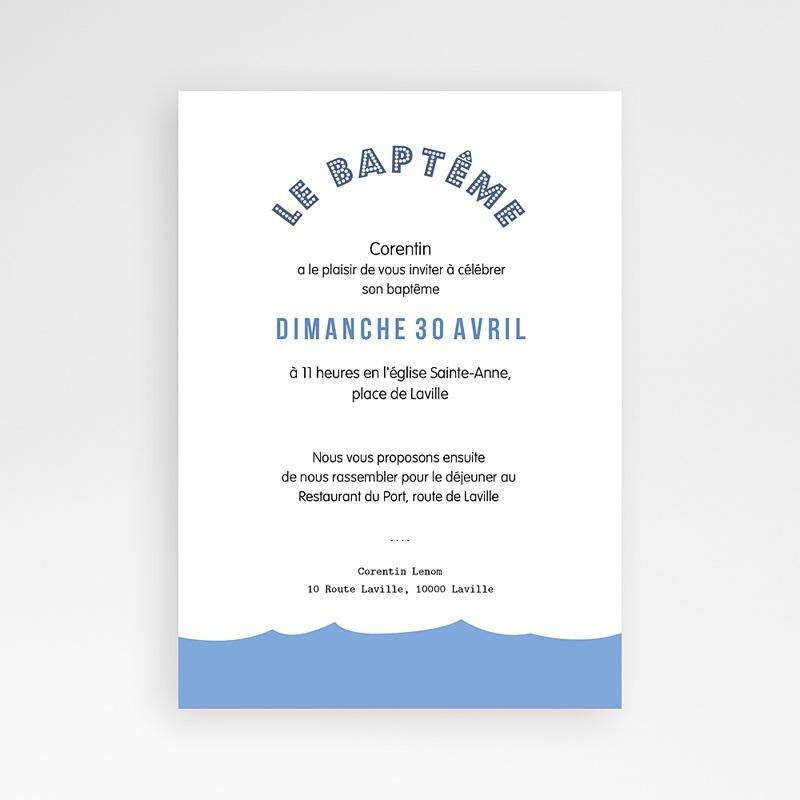 Faire-part Baptême Garçon - Noé 46925 thumb