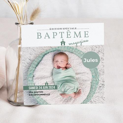 Faire-Part Baptême Garçon Façon Mag