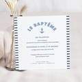 Faire-part Baptême Garçon - Matelot 46989 thumb