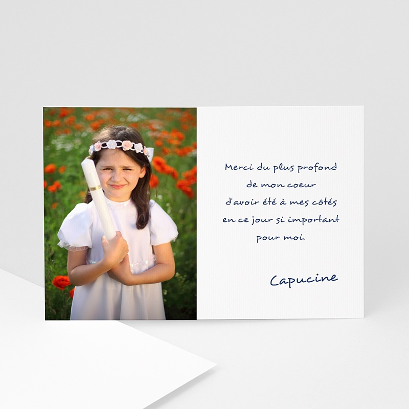 Carte Remerciement Communion Fille Eléison