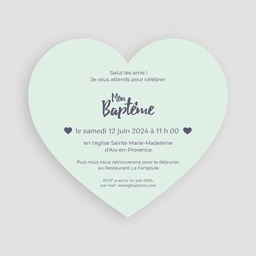 Faire-part Baptême Garçon - Coeur Pastel 47012 preview