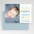 Faire-part Baptême Garçon - Camaieu de bleus 47020 thumb