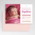 Faire-part baptême fille Camaieu de roses gratuit