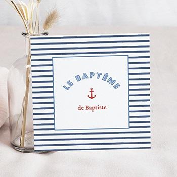 Faire-part Baptême Garçon - Moussaillon - 0