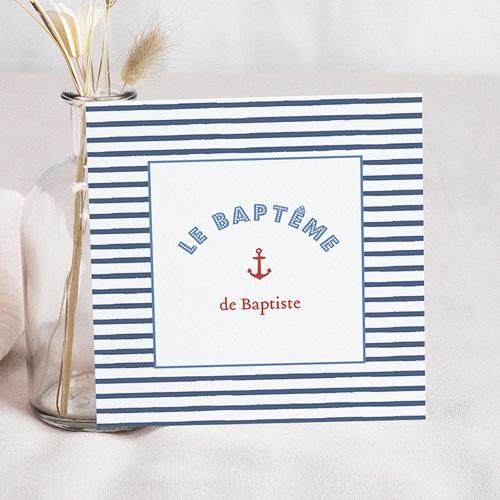 Faire-part Baptême Garçon - Moussaillon 47054