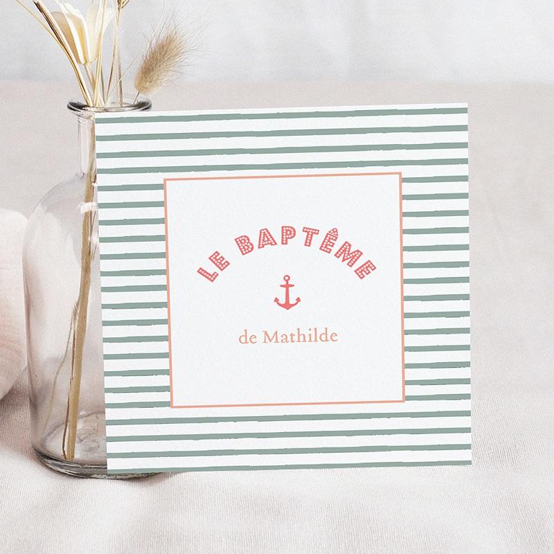 Faire-Part Baptême Fille Belle Marinière