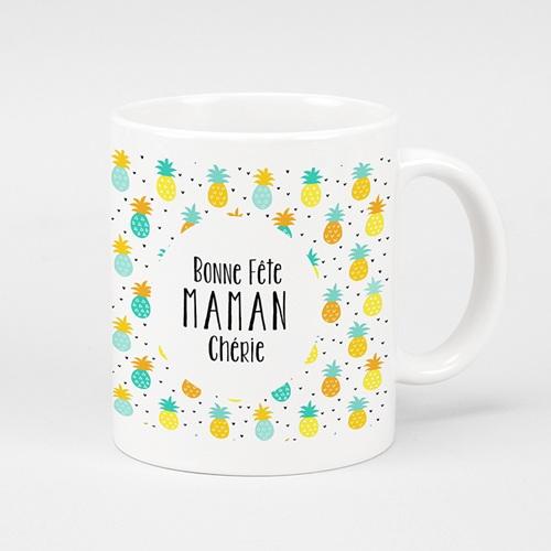 Mug Personnalisé Fête des Mères Cadeau original Bonne fête Maman ananas