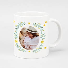 Mug Fête des mères Couronne fleurie