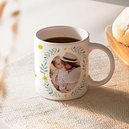 Mug personnalisé photo - Couronne fleurie - 0