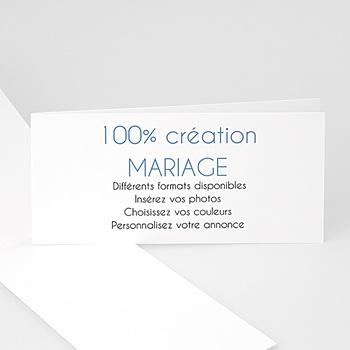 Création carte remerciements mariage vierge-21x10cm