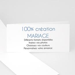 Carte Remerciements Mariage Vierge-21x10cm