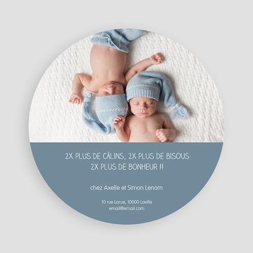 Faire-Part Naissance Jumeaux - Souris jumeaux 47193 thumb
