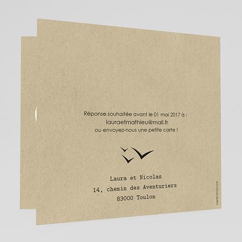 Faire-part mariage voyage Passeport soleil gratuit