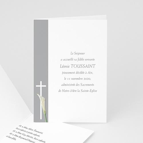 Remerciements Décès Chrétien - Triste fleur  4730 thumb
