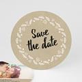 Save the date mariage Couronne de bonheur
