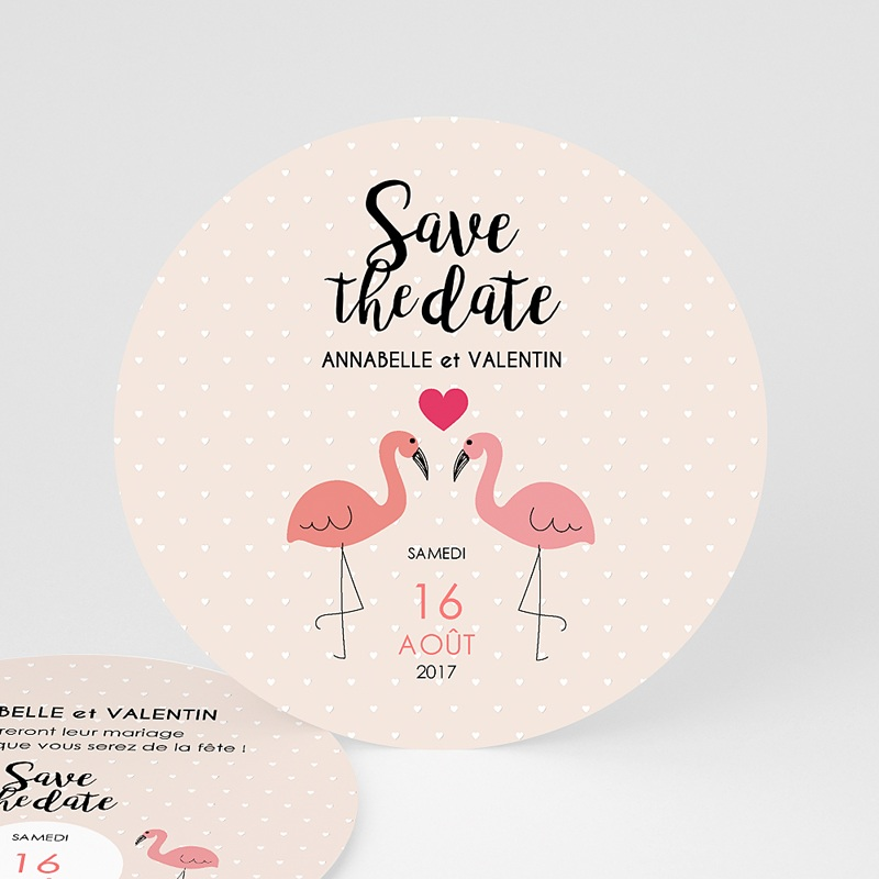 Save-The-Date - Flamant rose 47309 thumb
