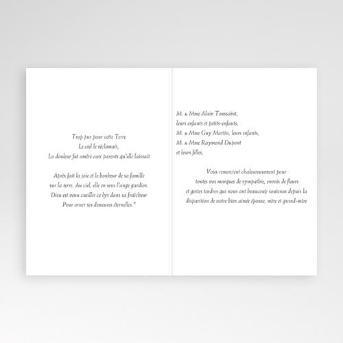 Remerciements Décès Chrétien - Triste fleur  4731 preview