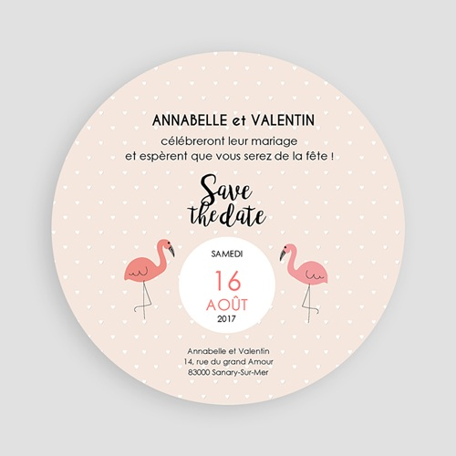 Save-The-Date - Flamant rose 47310 thumb