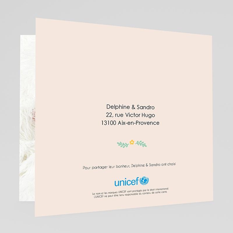 Faire-Part Naissance Fille UNICEF Couronne colorée gratuit