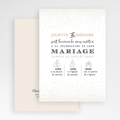 Faire-Part Mariage Personnalisés - Pailleté 47340 preview