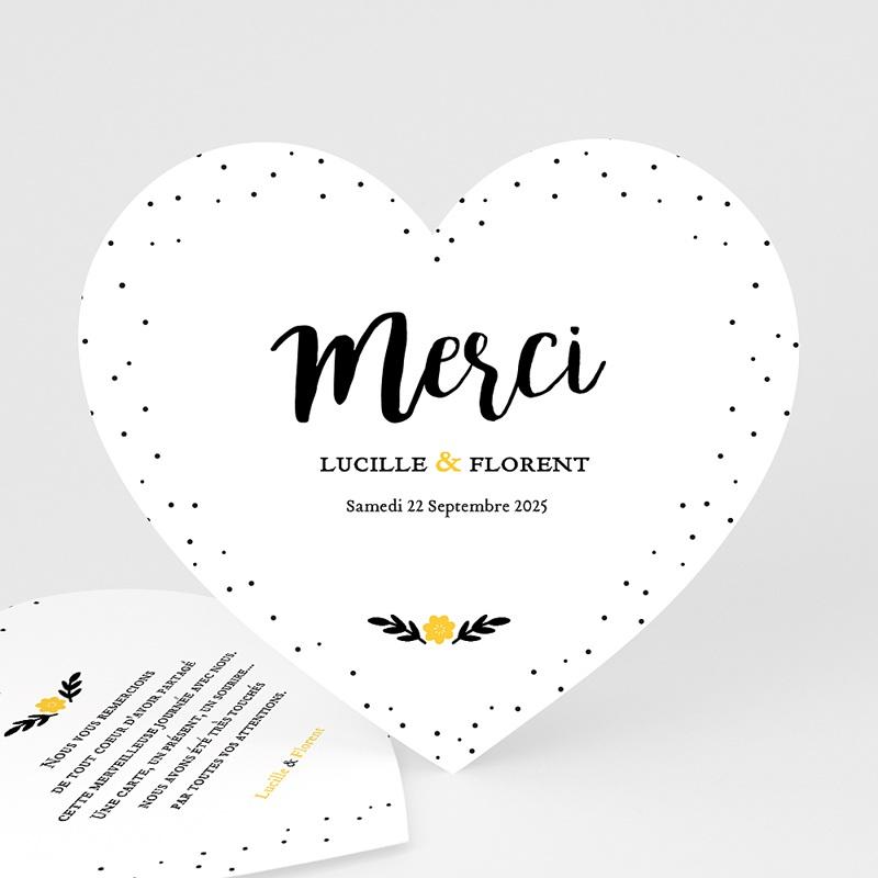 Carte Remerciements Mariage Mercy