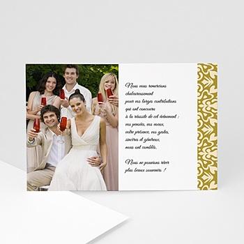 Achat remerciements mariage personnalisés reflets médicis
