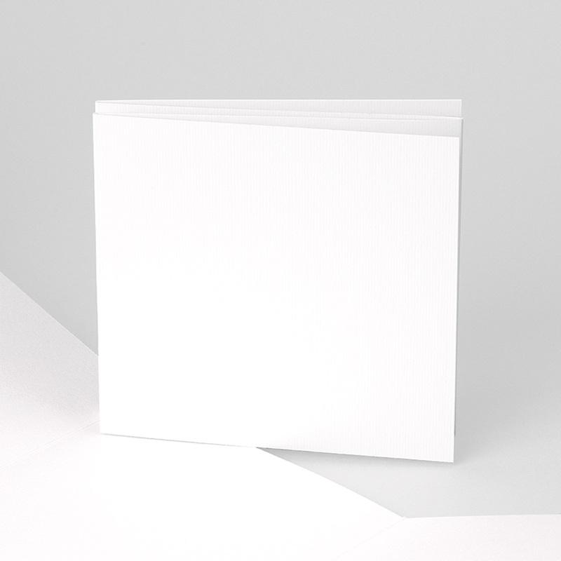 Faire-Part Naissance Vierge accordéon 10.4 cm x 9.9 cm à personnaliser