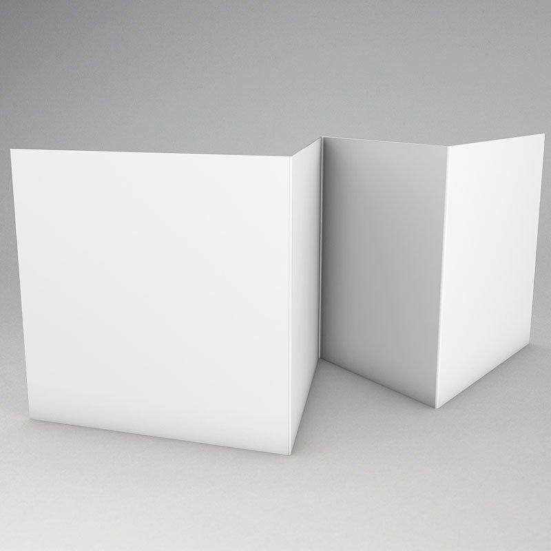 Faire-Part Naissance Vierge accordéon 10.4 cm x 9.9 cm à personnaliser gratuit