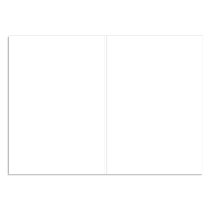 Faire-Part Naissance Vierge rectangle double vertical 10.5 cm x 15 cm à personnaliser pas cher