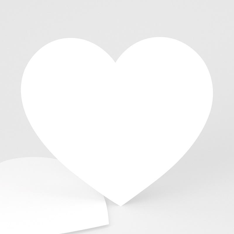 Faire-Part Naissance Vierge coeur 14 cm x 13 cm à personnaliser