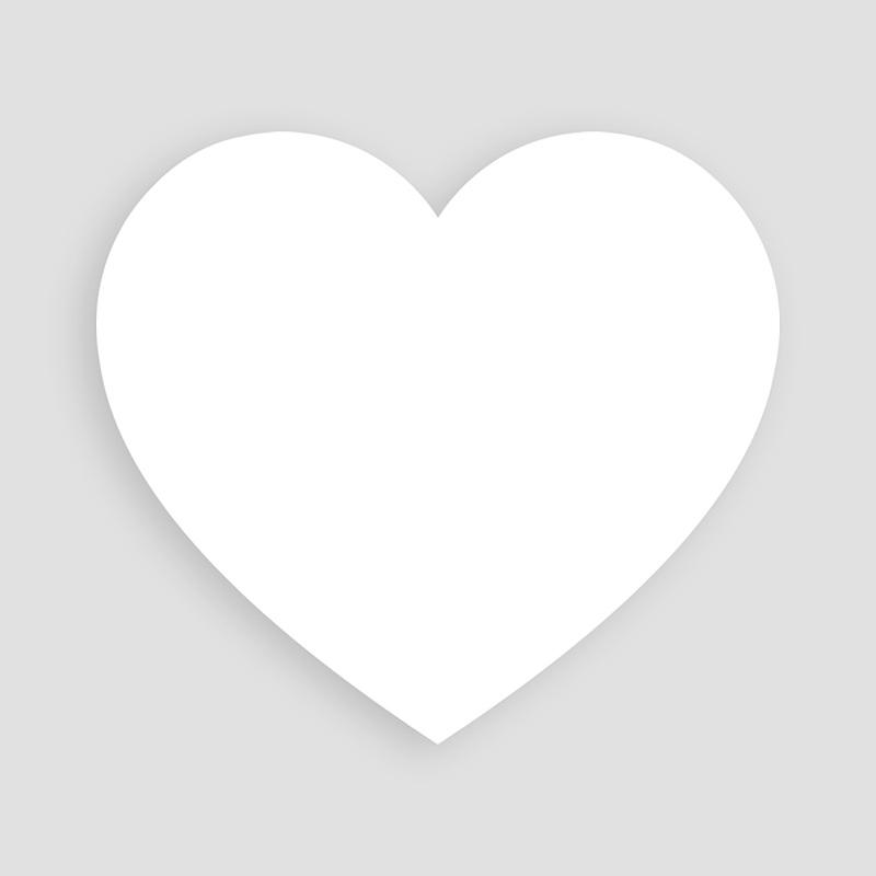 Faire-Part Naissance Vierge coeur 14 cm x 13 cm à personnaliser  pas cher