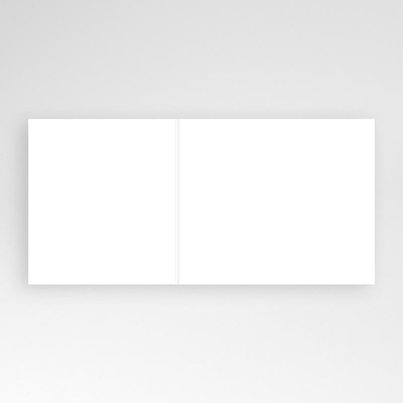 Faire-Part Naissance Vierge rectangle double 12 cm x 10 cm à personnaliser pas cher