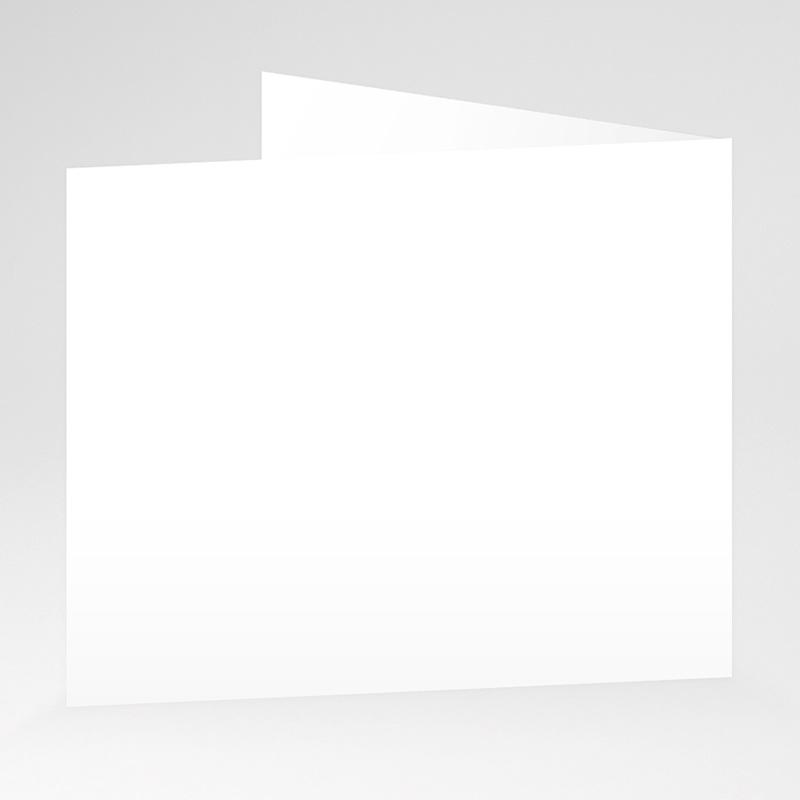 Faire-Part Naissance Vierge rectangle double 12 cm x 10 cm à personnaliser gratuit