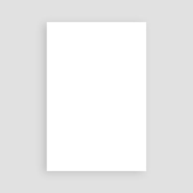 Faire-Part Naissance Vierge rectangle vertical 10 cm x 15 cm à personnaliser pas cher