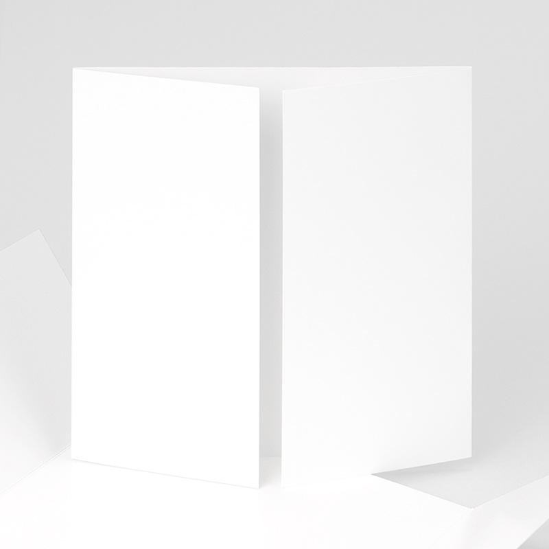 Faire-Part Naissance Vierge carré deux volets 15 cm x 14.5 cm à personnaliser