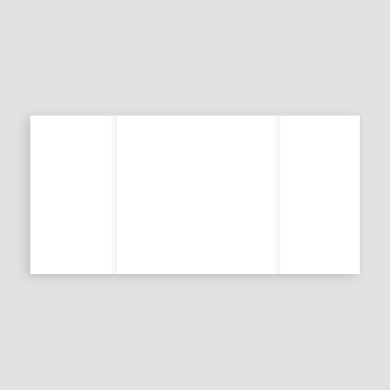Faire-Part Naissance Vierge carré deux volets 15 cm x 14.5 cm à personnaliser pas cher