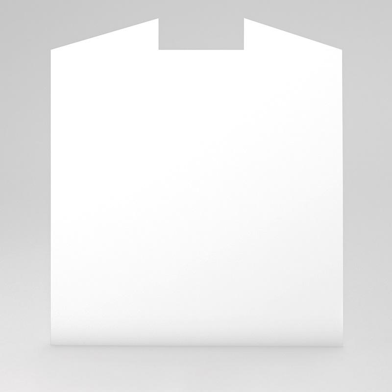Faire-Part Naissance Vierge carré deux volets 15 cm x 14.5 cm à personnaliser gratuit