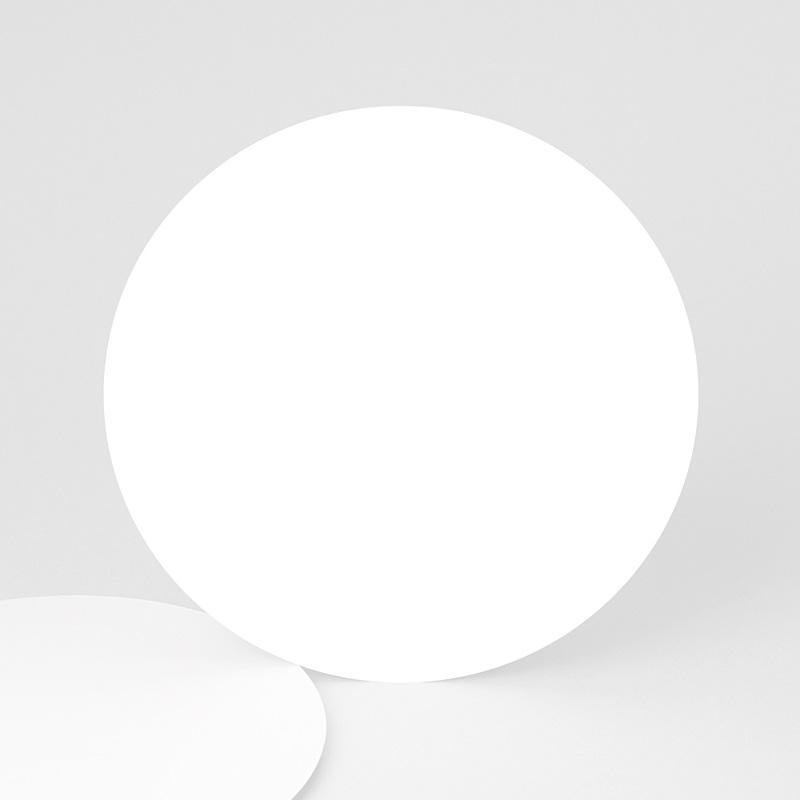 Faire-Part Naissance Vierge rond 14 cm de diamètre à personnaliser