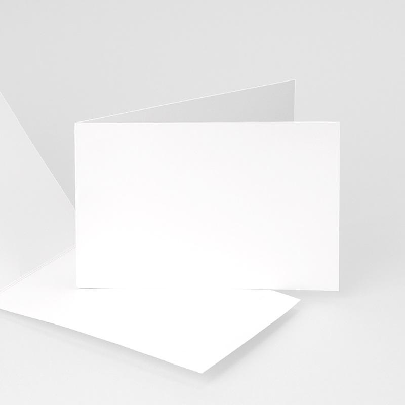 Faire-Part Naissance Vierge rectangle double horizontal 10 cm x 15 cm à personnaliser